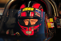 Feb. 17 2012; Chandler, AZ, USA; NHRA top fuel driver David Grubnic during qualifying for the Arizona Nationals at Firebird International Raceway. Mandatory Credit: Mark J. Rebilas-