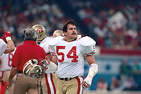 NEW ORLEANS, LA - Matt Millen of the San Francisco 49ers in action during Super Bowl XXIV against the Denver Broncos at the Superdome in New Orleans, Louisiana on January 28, 1990. Photo by Brad Mangin.