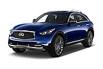 2017 Infiniti QX70 3.7 5 Door SUV Angular Front stock photos of front three quarter view