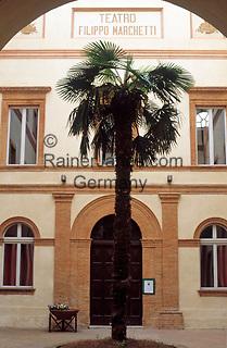ITA, Italien, Marken, Camerino: Innenhof des Teatro Filippo Marchetti | ITA, Italy, Marche, Camerino: Teatro Filippo Marchetti, courtyard