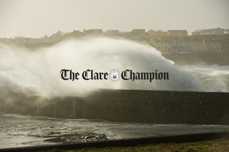 The Storm blows up heavy seas at Kilkee. Photograph by John Kelly.