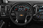 Car pictures of steering wheel view of a 2018 Chevrolet Silverado-1500 LT-Double-Cab-Std-Box 4 Door Pick-up Steering Wheel