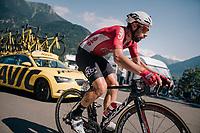 Thomas de Gendt (BEL/Lotto-Soudal) up the final climb of the day (in Spain!): the Col du Portillon (Cat1/1292m)<br /> <br /> Stage 16: Carcassonne > Bagnères-de-Luchon (218km)<br /> <br /> 105th Tour de France 2018<br /> ©kramon