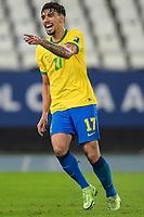 5th July 2021; Nilton Santos Stadium, Rio de Janeiro, Brazil; Copa America, Brazil versus Peru; Lucas Paquetá of Brazil celebrates his goal in the 43rd minute for 1-0