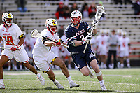 College Park, MD - February 15, 2020: Penn Quakers defender Ben Bedard (3) in action during the game between Penn and Maryland at  Capital One Field at Maryland Stadium in College Park, MD.  (Photo by Elliott Brown/Media Images International)