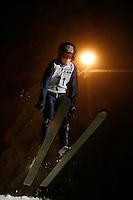 Christian Borchrevink (10) ski jumping in Schrøderbakken, near the center of Oslo.