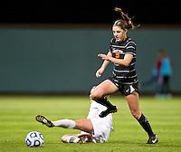STANFORD, CA - November 9, 2012: Stanford vs Idaho St. University in a women's soccer match in Stanford, California. Final score, Stanford 3, Idaho State University 0.