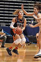 SAN ANTONIO, TX - JANUARY 2, 2021: The University of Texas at San Antonio Roadrunners fall to the Rice University Owls 69-57 at the Historic UTSA Convocation Center (Photo by Jeff Huehn).