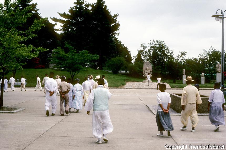So. Korea: Kyong-Ju. Old country folks on bus tour. Photo '81.