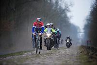 Paris-Roubaix 2013 RECON..Nikki Terpstra (NLD) Trouée d'Arenberg reconnaissance.