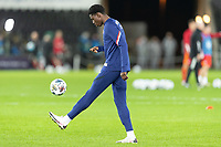 SWANSEA, WALES - NOVEMBER 12: Owen Otasowie of the United States warms up during a game between Wales and USMNT at Liberty Stadium on November 12, 2020 in Swansea, Wales.