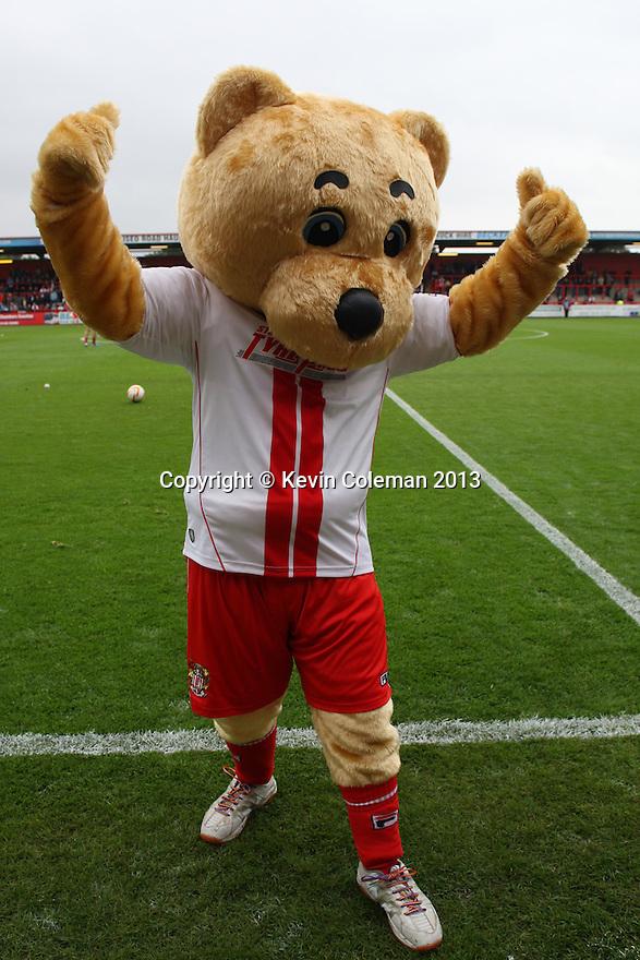 Boro Bear <br />  - Stevenage v Carlisle Untied - Sky Bet League 1 - Lamex Stadium, Stevenage - 21st September, 2013<br />  © Kevin Coleman 2013