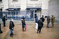 NEW YORK, NEW YORK - FEBRUARY 4:  People wait in line during COVID-19 vaccination hub at Yankee Stadium on February 5, 2021 in New York City. Yankees legend Mariano Rivera visit the Yankee Stadium on Friday as it was transformed into a COVID-19 vaccination mega-facility for resident of the zone. (Photo by Eduardo MunozAlvarez/VIEWpress)