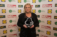 19/05/2015 <br /> Christina Noble & Pat Kenny with her award<br /> during the Irish mirror pride of Ireland awards at the mansion house, Dublin.<br /> Photo: gareth chaney Collins