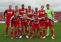 22 October 2011: Toronto FC starting eleven during a game between the New England Revolution and Toronto FC at BMO Field in Toronto.