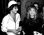 Stevie Nicks 1981 with Jimmy Iovine at backstage at Heart show at Whisky in Hollywood.<br /> © Chris Walter