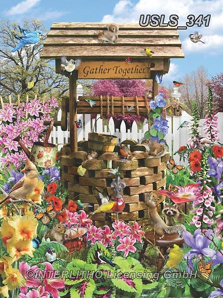 Lori, LANDSCAPES, LANDSCHAFTEN, PAISAJES, paintings+++++Wishing Well Puzzle_4_10in_72_Sunsout,USLS341,#l#, EVERYDAY ,puzzle,puzzles