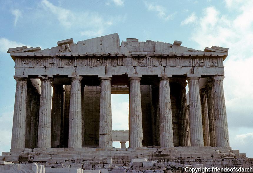 Athens: The Parthenon--elevation. Photo '82.