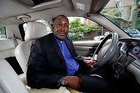 NEW ORKY - SUNDAY NEWS - Uber driver Pastor Kenneth Drayton, 54, inside of his vehicle, Brooklyn, NY, Friday, July 7, 2017.<br /> <br /> PICTURED:  <br /> <br /> <br /> (Angel Chevrestt, 646.314.3206)