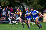 Brendan O'Sullivan, Austin Stacks in action against Gearoid Savage and Cian Sayers, Kerins O'Rahillys In the 2021 Kerry Petroleum Senior Club Football Championship between Austin Stacks and Kerins O'Rahillys at Connolly park, Tralee on Sunday.