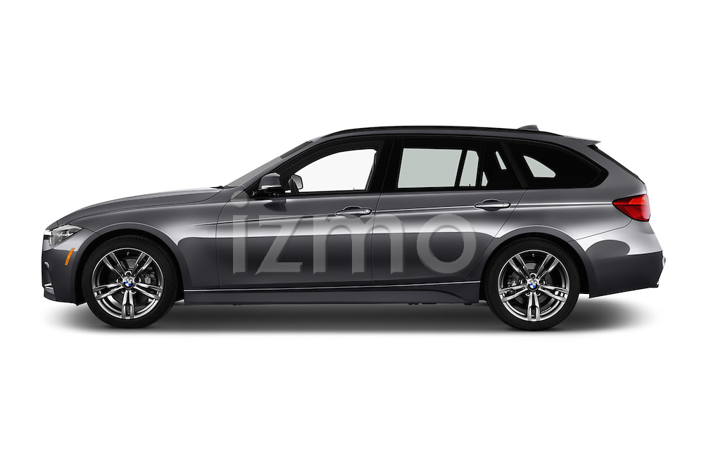 Car Driver side profile view of a 2018 BMW 3-Series 330i-Sports-Wagon 5 Door Wagon Side View
