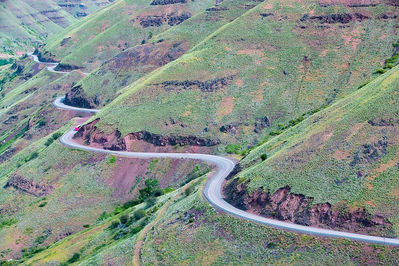 Enterprise/Lewiston Highway 129. with spring growth. Oregon