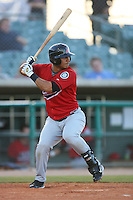 April 19 2009: Ron Garth of the High Desert Mavericks bats against the Lancaster JetHawks at Clear Channel Stadium in Lancaster,CA.  Photo by Larry Goren/Four Seam Images