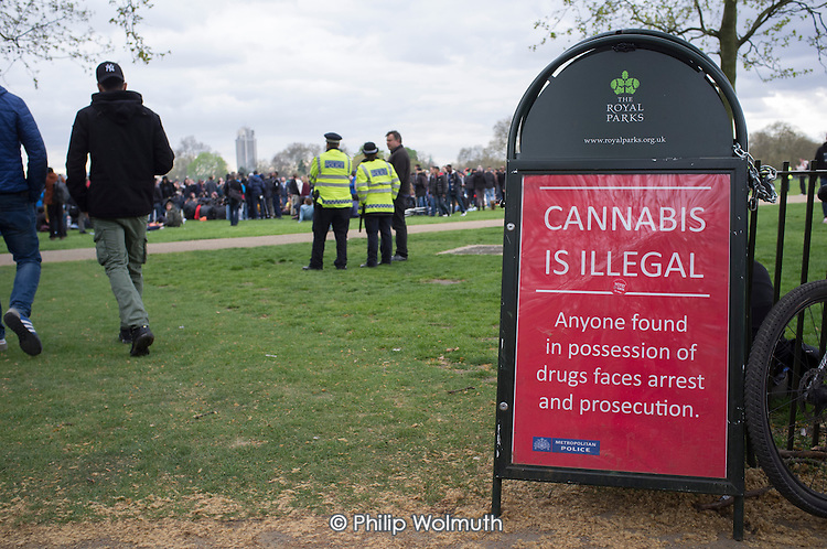 Legalise Cannabis Day, Hyde Park, London.