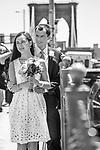 Brooklyn Bridge and New York City Wedding<br /> Chinese Bride and U.S. groom