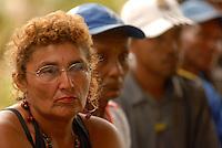 Nomeada embaixadora especial do Pará , a atriz alemã Nina Hoss, visita São José,  uma das 17 comunidades quilombola de descendentes de escravos e conversa com moradores para discutir seus problemas. Ao todo cerca de 1000 pessoas vivem na região conhecida como Jacaréaquara,  que fica a cerca de uma hora de barco da capital paraense Belém.<br /> Acará, Pará, Brasil.<br /> 29/03/2008<br /> Foto Paulo Santos