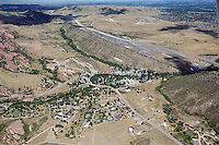 aerial of Morrison, CO with Bandimere Speedway