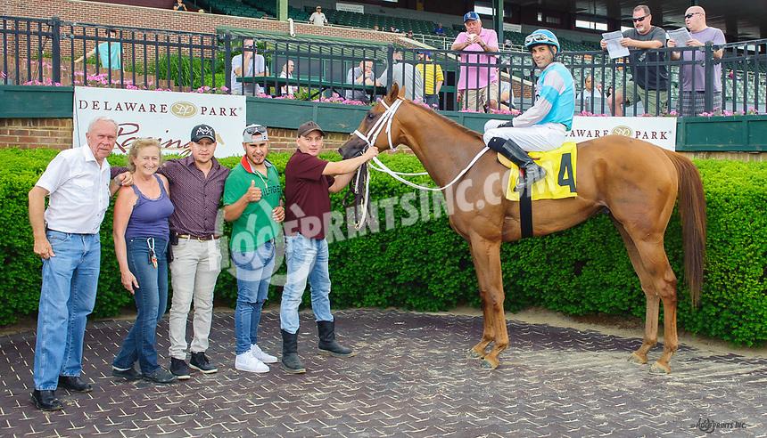 My Boy Lenny winning at Delaware Park on 6/7/18