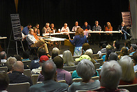 Benton County Quorum Court committee of the whole hear Tuesday July 20 2021 public comment about a resolution naming Benton County a pro-life county.<br />(NWA Democrat-Gazette/Flip Putthoff)