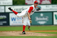 RHP Alex Wlison of the Lowell Spinners, the short season A ball team of the Boston Red Sox, at Edward LeLacheur Park in Lowell, MA on August 9, 2009. Wilson was selected by Boston in the second round of the 2009 draft.(Photo by Ken Babbitt/Four Seam Images)