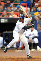 3 April 2006: Carlos Delgado, first baseman for the New York Mets, at bat during Opening Day play against the Washington Nationals at Shea Stadium, in Flushing, New York. The Mets defeated the Nationals 3-2 to lead off the 2006 MLB season...Mandatory Photo Credit: Ed Wolfstein Photo..