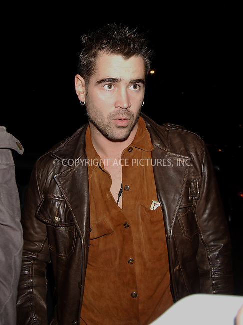 WWW.ACEPIXS.COM . . . . . ....NEW YORK, APRIL 6, 2006....Colin Farrell at the 11th Annual Gen Art Film Festival for 'Wristcutters: A Love Story'.....Please byline: KRISTIN CALLAHAN - ACEPIXS.COM.. . . . . . ..Ace Pictures, Inc:  ..(212) 243-8787 or (646) 679 0430..e-mail: info@acepixs.com..web: http://www.acepixs.com