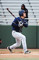 Pittsburgh Panthers infielder Eric Hess (8) during game against the St. John's Redstorm at Jack Kaiser Stadium on March 22, 2013 in Queens, New York.  Pittsburgh defeated St. John's 12-9.  (Tomasso DeRosa/Four Seam Images)