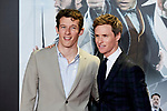 Eddie Redmayne and Callum Turner attends to Fantastic Beasts: The Crimes of Grindelwald film premiere during the Madrid Premiere Week at Kinepolis in Pozuelo de Alarcon, Spain. November 15, 2018. (ALTERPHOTOS/A. Perez Meca)