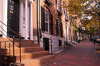 Row houses Beacon Hill district Boston Massachusetts