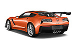 Car pictures of rear three quarter view of a 2019 Chevrolet Corvette ZR1 3 Door Targa angular rear