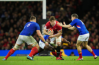 Will Rowlands of Wales in action during the Guinness Six Nations Championship Round 3 match between Wales and France at the Principality Stadium in Cardiff, Wales, UK. Saturday 22 February 2020