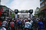 Waiting for the start of the 107th edition of Liege-Bastogne-Liege 2021, running 259.1km from Liege to Liege, Belgium. 25th April 2021.  <br /> Picture: A.S.O./Aurelien Vialatte | Cyclefile<br /> <br /> All photos usage must carry mandatory copyright credit (© Cyclefile | A.S.O./Aurelien Vialatte)