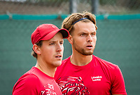 Netherlands, September 27,  2020, Beneden-Leeuwen, TV Lewabo, Competition, Men's premier league, TV Lewabo vs TV Suthwalda, Doubles: Wauters (NED) and Eleveld (NED)   <br /> Photo: Henk Koster/tennisimages.com