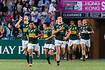 South Africa Rugby Squad getting into the field during the HSBC Hong Kong Sevens 2018 Bronze Medal Final match against New Zealand on 08 April 2018 in Hong Kong, Hong Kong. Photo by Marcio Rodrigo Machado / Power Sport Images