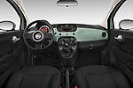 Stock photo of straight dashboard view of a 2015 Fiat 500 POP 3 Door Hatchback Dashboard