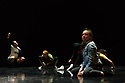 """Leeds, UK. 19.03.2019. First and Third Year students of BA (Hons) Dance (Contemporary), at the Northern School of Contemporary Dance, present work as part of FLOCK FEST, in the Riley Theatre. This piece is: """" Your Future Children - The Rebellion"""" by choreographer Rita Marcalo. The dancers are: Nora Ellevold Aas, Cameron Bennett, Amber Bosteels, Naomi Chockler, Pute Chomchan, Luis Dunn, Kate Hooley, Pauline Hottat, Isla Hurst, Niamh Keady, Ema Leger, Sarah McCann, Neema Mwande,Tom Noble, Yasmina Patel, Evie Pendlebury, Kai Rankin, Marin aTubau Burcion, Kieran West, Holly Yu. Photograph © Jane Hobson."""