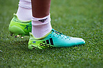 Shoes of Marcelo Vieira Da Silva of Real Madrid are seen prior to the La Liga match between Real Madrid and Atletico de Madrid at the Santiago Bernabeu Stadium on 08 April 2017 in Madrid, Spain. Photo by Diego Gonzalez Souto / Power Sport Images