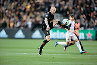 Jordan Harvey #2 of the LAFC traps a ball