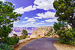 Rim Trail, South Rim, Grand Canyon National Park, Arizona, USA.  HIking, Cycling along the canyon rim.  This view near Hermit Road.