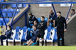 St Johnstone v Dundee United…22.08.21  McDiarmid Park    SPFL<br />Arabs boss Tam Courts shouts instructions<br />Picture by Graeme Hart.<br />Copyright Perthshire Picture Agency<br />Tel: 01738 623350  Mobile: 07990 594431